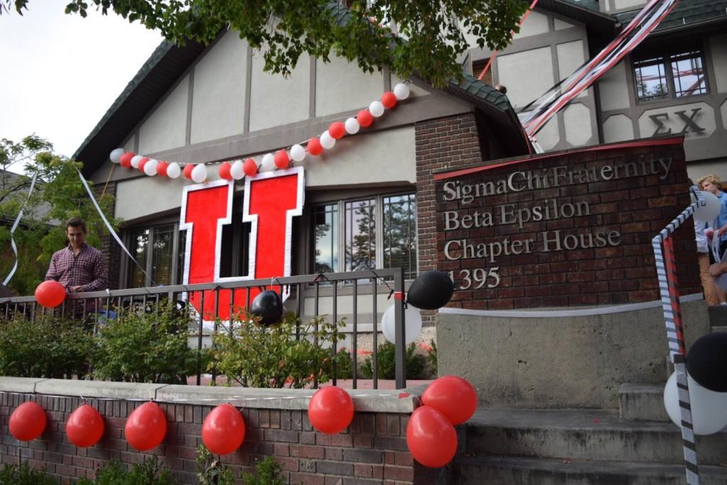 The Sigma Chi house is decorated for homecoming week, Tuesday, Oct. 6, 2015. Tara Lincoln, Daily Utah Chronicle.