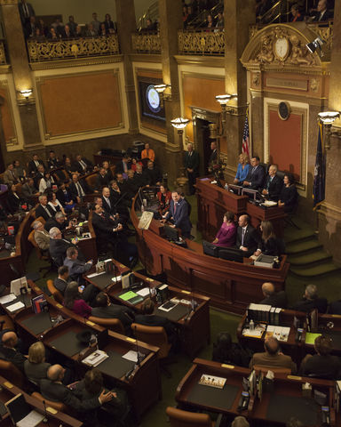 Utah State of the State address, Wednesday January 27, 2016. (Mike Sheehan, Daily Utah Chronicle)