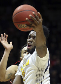Cal Golden Bears forward Jaylen Brown (0) goes up for a layup in a Pac-12 regular season game against the Utes at the Jon M. Huntsman Center, Wednesday, Jan. 27, 2016. Chris Samuels, Daily Utah Chronicle.