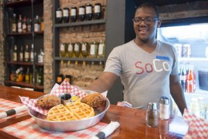 SoCo, one of the many restaurants participating in the Salt Lake City Dine O'Round, is a southern style restaurant that has fabulous hush puppies on Wednesday, September 8, 2016