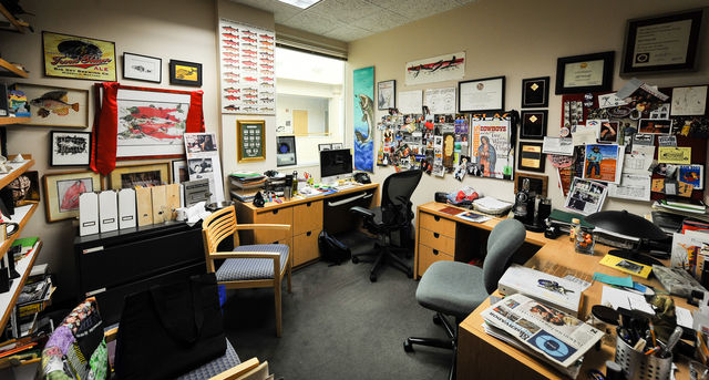 Jeff Metcalf's office in the English Department on the 3rd floor of LNCO. September 8, 2016 Adam Fondren Daily Utah Chronicle