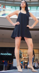 A model for Pandora at the City Creek Mall Fall Fashion Show in Salt Lake City, Utah on Saturday, Sept.17, 2016. (Rishi Deka, Daily Utah Chronicle)