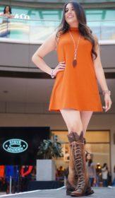 A model for Steve Madden at the City Creek Mall Fall Fashion Show in Salt Lake City, Utah on Saturday, Sept.17, 2016. (Rishi Deka, Daily Utah Chronicle)