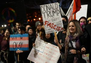 "The ""Say No to Trump's Agenda"" protest and rally in Salt Lake City, Utah on Thursday, Nov.10, 2016. (Rishi Deka, Daily Utah Chronicle)"