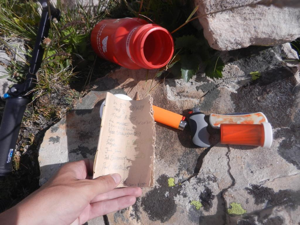 The contents of the geo-cache.