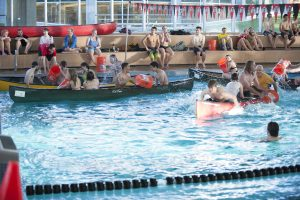Students Gear Up for Annual Pre-Finals Week Canoe Battleship