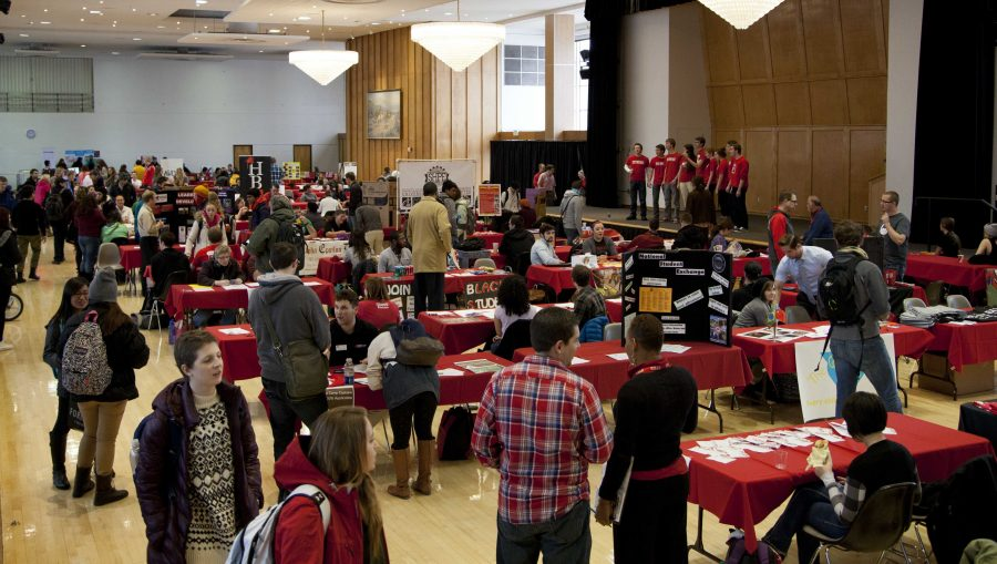 Student clubs and organizations gathered together for Plazafest January 8th in the Union Ballroom | Chronicle archives.