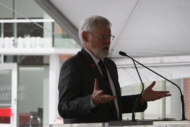 President+Pershing+Speaks+at+LDS+Institute+Alongside+Elder+M.+Russell+Ballard