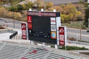 Construction in Preparation for New Rice-Eccles Scoreboard Begins