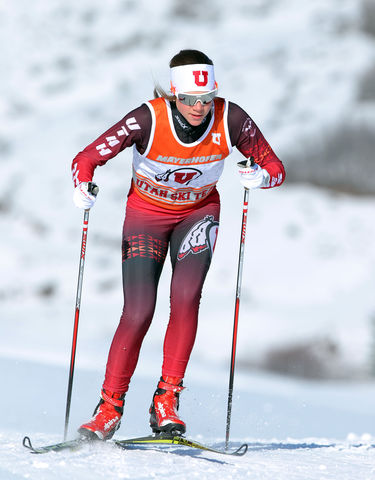 Veronika Mayerhofer, Utah Nordic Ski team Thursday, January 28, 2016 in Salt lake City, UT. (Photo / Steve C. Wilson / University of Utah)