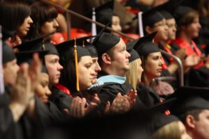 Graduation ceremony at the University of Utah in 2011. Chronicle archives.