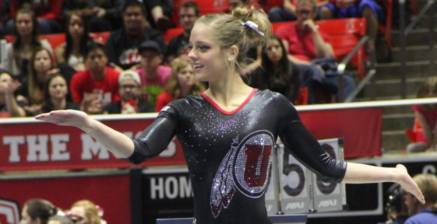 Senior Hughes continues to leave a legacy behind for Utah Gymnastics