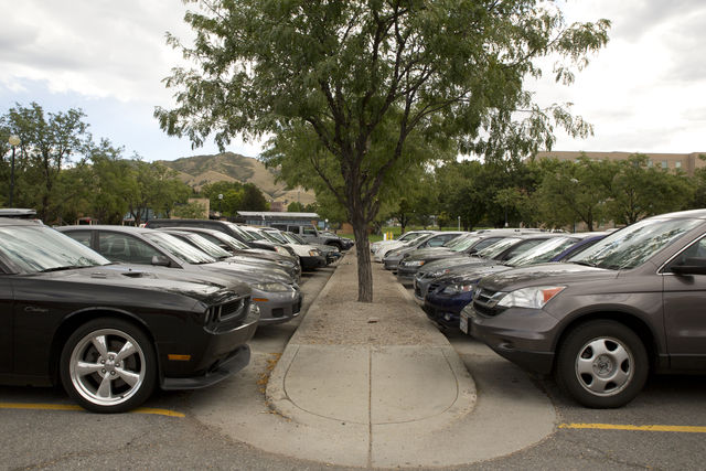 Cars parked in the union on Tuesday, September 1, 2015. (Photo Courtesy of Chronicle Archives)