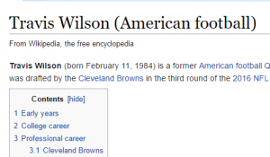 What Is Going On With Travis Wilson's Wikipedia Page?