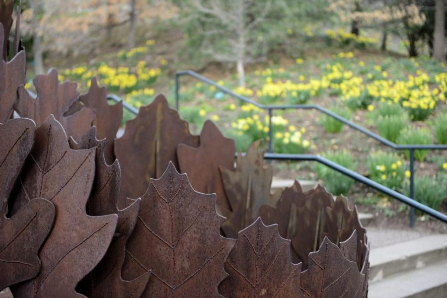 In lieu of National Poetry month, the Garden Poetry Walk is on exhibit at Red Butte Gardens for visitors to walk through the garden and enjoy poetry, on Monday, April 4, 2016