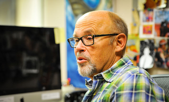 Jeff Metcalf sitting at his desk in his office talking about his teaching method, his academic history, his fight with cancer, and his future. September 8, 2016 Adam Fondren Daily Utah Chronicle