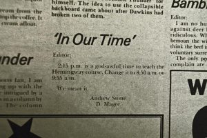 The Lost Art of Letters to the Editor