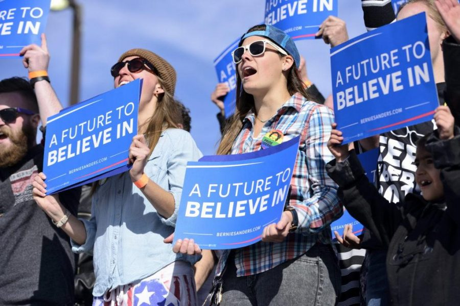 Thousands of people came to support Democratic Presidential Candidate Bernie Sanders at his rally at This is the Place Monument in Salt Lake City, Friday, March 18, 2016 | Chronicle archives
