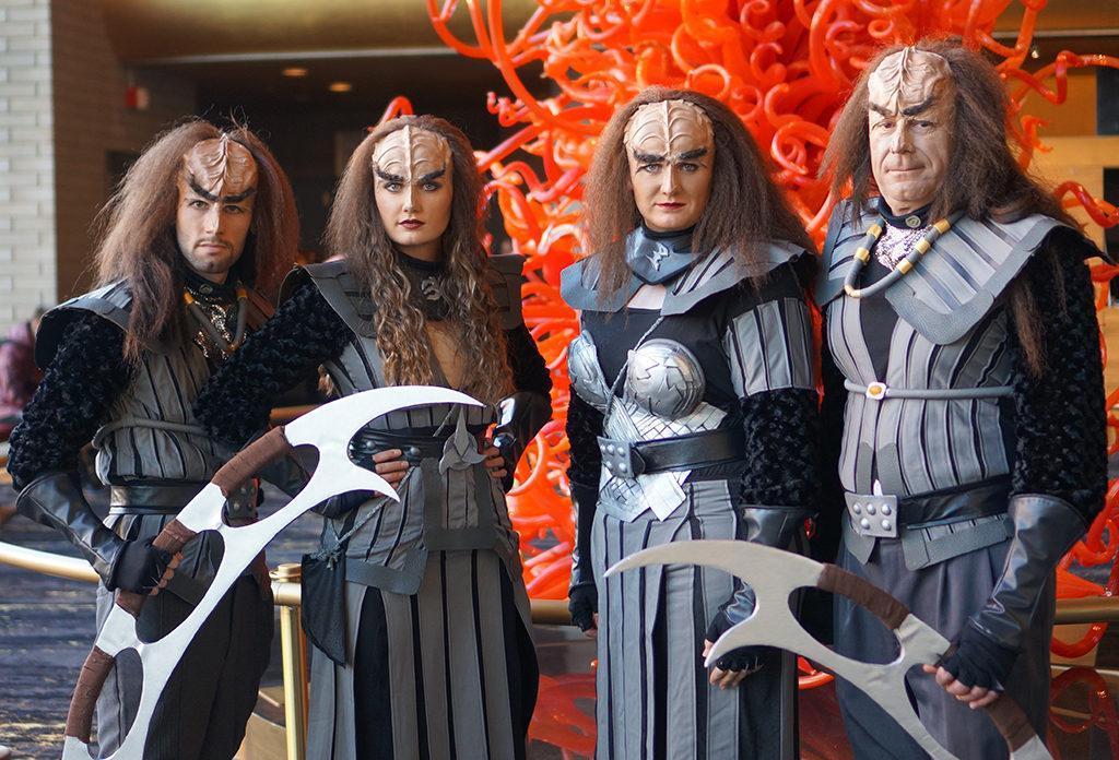 A group of klingons inside Abravanel Hall at the Utah Symphony Halloween Spooktacular in Salt Lake City, Utah on Tuesday, Oct. 25, 2016. (Rishi Deka, Daily Utah Chronicle)