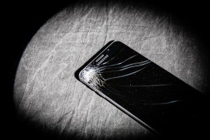 Broken Samsung Galaxy phone. November 4, 2016 Adam Fondren, Daily Utah Chronicle.