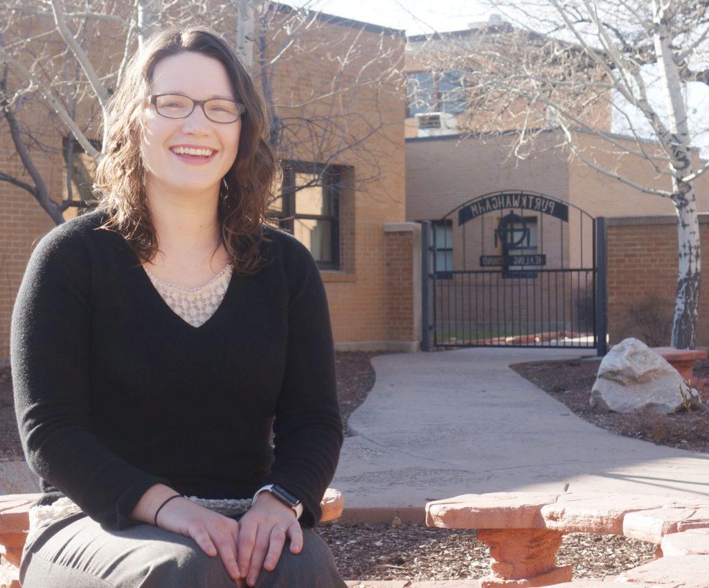 Dr. Vanessa Stevens smiles in the Healing Ground at the VA Salt Lake City on Wednesday, Feb. 17, 2017. (Rishi Deka, Daily Utah Chronicle)