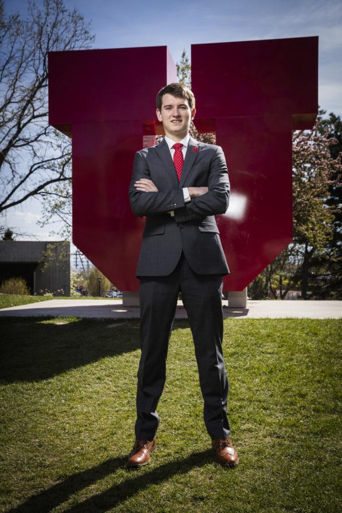 (Model Released), Jack Bender jbender@asuu.utah.edu, University of Utah students pose for various lifestyle photos and portraits for marketing collateral at various location on the campus of The University of Utah in Salt Lake City, Utah Wednesday April 20, 2016. (Photo by August Miller)