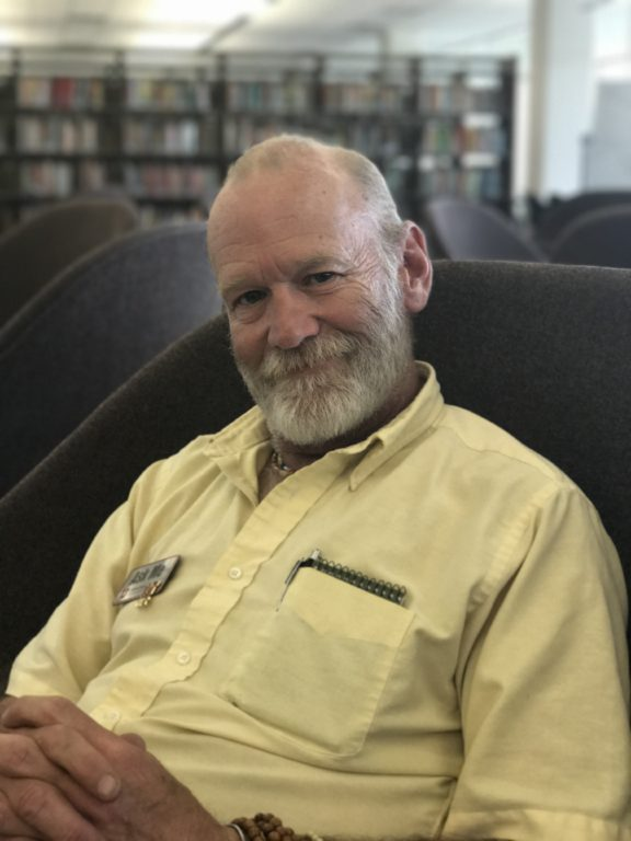 Scott Schear, a custodian for the University of Utah J. Willard Marriott Library.