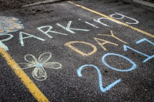 Urban Ecology Students Transform Parking Spots for Earth Week
