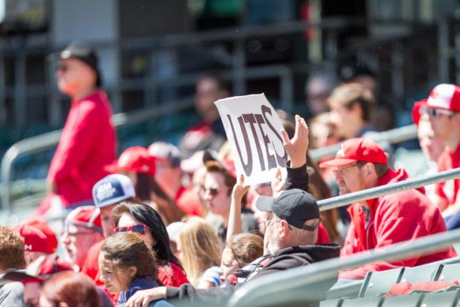 Fans at the University of Utah Baseball game at Smiths Ballpark, Salt Lake City, UT, 4/29/17.Photo by Adam Fondren/Daily Utah Chronicle