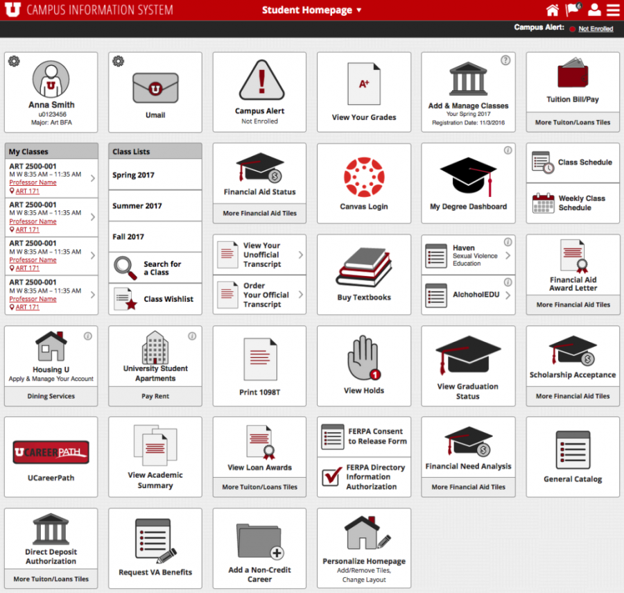 Wireframe, of the Student Page, developers are working from that will be almost identical to the finished product.
