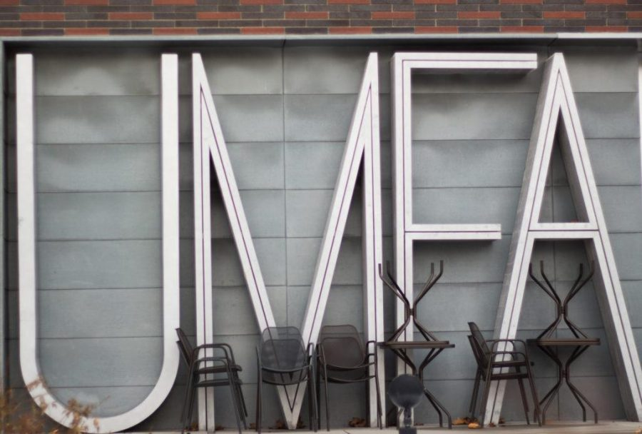 Archived photo of UMFA sign.