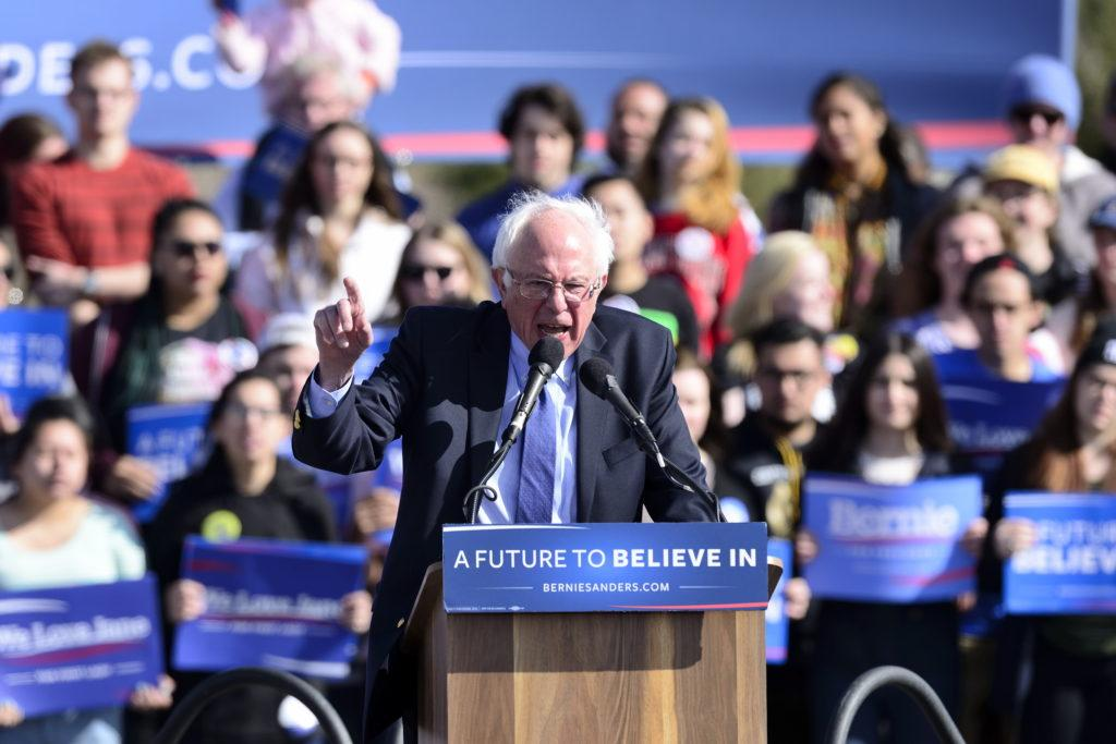 Thousands of people came to support Democratic Presidential Candidate Bernie Sanders at his rally at This is the Place Monument in Salt Lake City, Friday, March 18, 2016