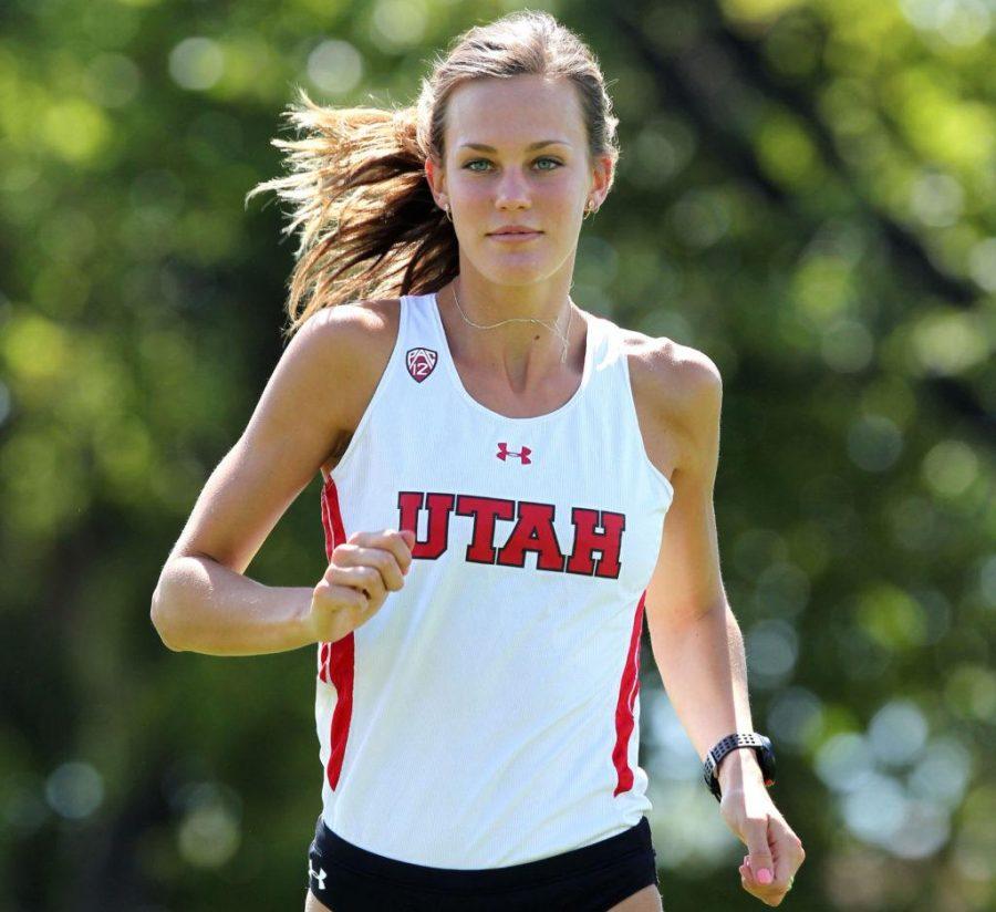 Hannah McInturff , Utah Cross Country August 24, 2016 in Salt Lake City, UT. (Photo / Steve C. Wilson / University of Utah)
