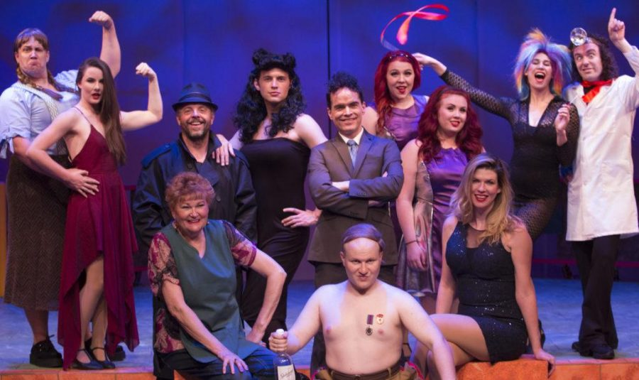The full cast of Saturdays Voyeur pose at the Salt Lake Acting Company in Salt Lake City, Utah on Thursday, June 15, 2017. (Rishi Deka | Daily Utah Chronicle)