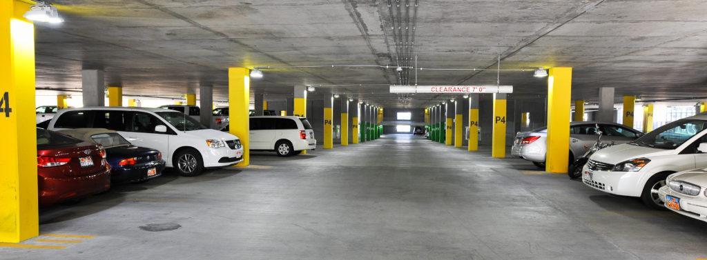 The Central Garage on the University of Utah Campus, Salt Lake City, UT on Thursday, July 13, 2017  (Photo by Adam Fondren   Daily Utah Chronicle)
