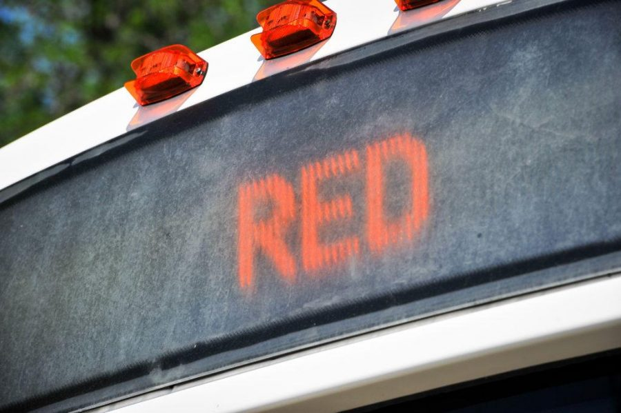 Red Shuttle at the Ray A. Olpin Student Union on the University of Utah Campus, Salt Lake City, UT on Thursday, July 13, 2017  (Photo by Adam Fondren   Daily Utah Chronicle)