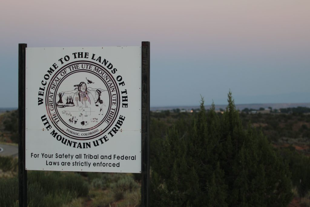 White Mesa, Utah, a reservation in southeast Utah that is home to the White Mesa Ute Mountain Ute Tribe.