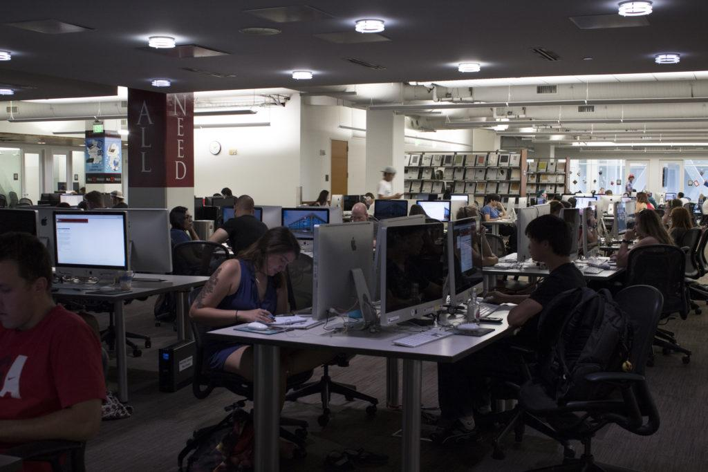 Computer labs in the Marriott Library on the University of Utah campus, Salt Lake City, UT on Thursday,Aug.24, 2017  (Photo by Ben Mccleery/ Daily Utah Chronicle)
