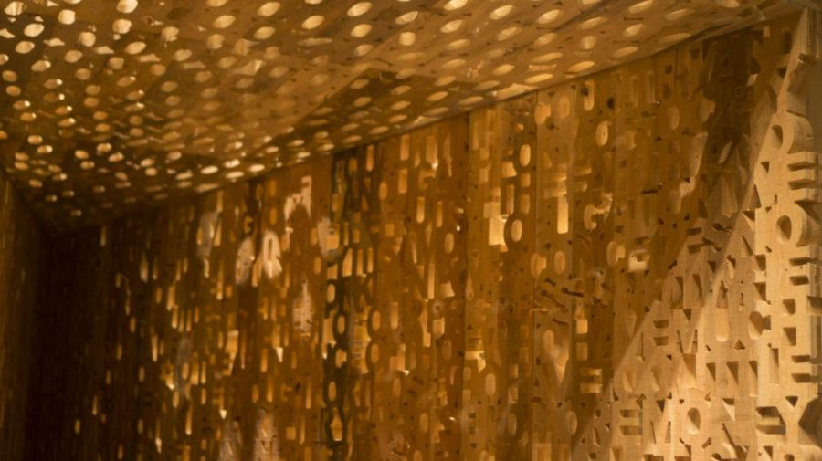 Jason Manley's 'Shrinking Room' exhibit at the Utah Museum of Contemporary Arts in Salt Lake City, Utah on Wednesday, Aug. 16, 2017. (Dr. Rishi Deka | Daily Utah Chronicle)