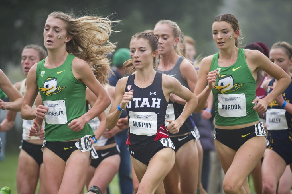 The University of Oregon hosts the Pac-12 Cross Country Championship meet at the Springfield Golf Club in Marcola, Ore. on Friday, Oct. 27, 2017. (Adam Eberhardt/Emerald)
