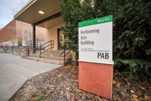 The Performing Arts Building (PAB), home to many departments and classes within the arts at the U. Chronicle archives.