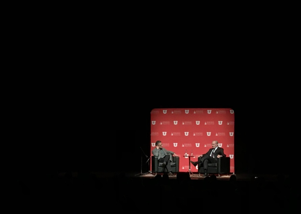 Investigative journalist Bob Woodward spoke at the University of Utah on November 16, 2017.