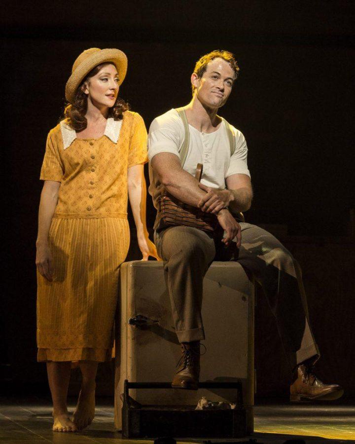 "Carmen Cusack and Patrick Cummings in Steve Martin and Edie Brickell's ""Bright Star."""