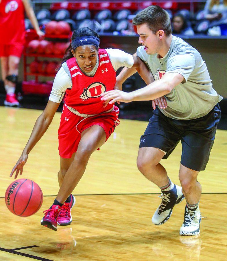 University of Utah Womens Basketball practice at the Jon M. Huntsman Center in Salt Lake City, UT on Wednesday, Jan. 10, 2018(Photo by Adam Fondren | Daily Utah Chronicle)