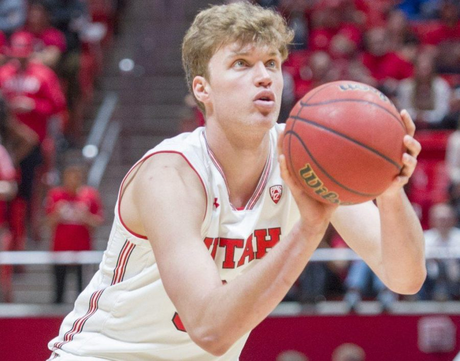 University+of+Utah+sophomore+forward%2Fcenter+Jayce+Johnson+%2834%29+takes+a+free+throw+shot+during+an+NCAA+Basketball+game+vs.+Arizona+State+University+Sun+Devils+at+the+Jon+M.+Huntsman+Center+in+Salt+Lake+City%2C+Utah+on+Sunday%2C+Jan.+7%2C+2018.%0A%0A%28Photo+by+Kiffer+Creveling+%7C+The+Daily+Utah+Chronicle%29