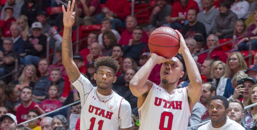 University+of+Utah+junior+guard+Sedrick+Barefield+%280%29+takes+a+shot+during+an+NCAA+Basketball+game+vs.+Arizona+State+University+Sun+Devils+at+the+Jon+M.+Huntsman+Center+in+Salt+Lake+City%2C+Utah+on+Sunday%2C+Jan.+7%2C+2018.%0A%0A%28Photo+by+Kiffer+Creveling+%7C+The+Daily+Utah+Chronicle%29