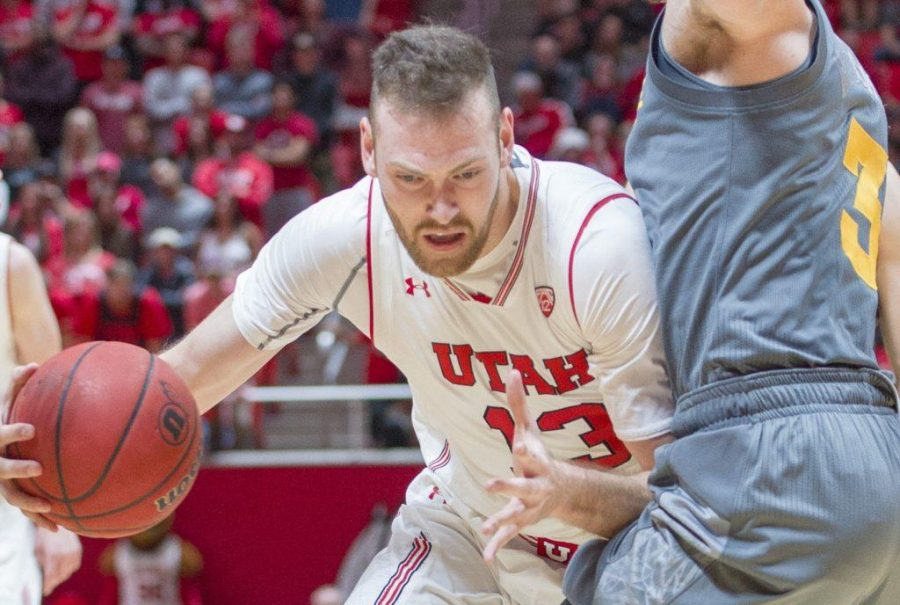 University+of+Utah+senior+forward+David+Collette+%2813%29+drives+into+Mickey+Mitchell+%283%29+of+the+ASU+Sun+Devils+during+an+NCAA+Basketball+game+vs.+Arizona+State+University+Sun+Devils+at+the+Jon+M.+Huntsman+Center+in+Salt+Lake+City%2C+Utah+on+Sunday%2C+Jan.+7%2C+2018.%0A%0A%28Photo+by+Kiffer+Creveling+%7C+The+Daily+Utah+Chronicle%29
