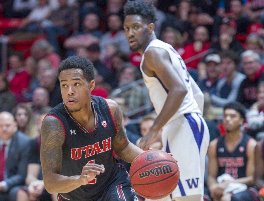 University+of+Utah+senior+guard+Justin+Bibbins+%281%29+drives+towards+the+basket+during+an+NCAA+Basketball+game+vs.+The+University+of+Washington+at+the+Jon+M.+Huntsman+Center+in+Salt+Lake+City%2C+Utah+on+Thursday%2C+Jan.+18%2C+2018.%0A%0A%28Photo+by+Kiffer+Creveling+%7C+The+Daily+Utah+Chronicle%29