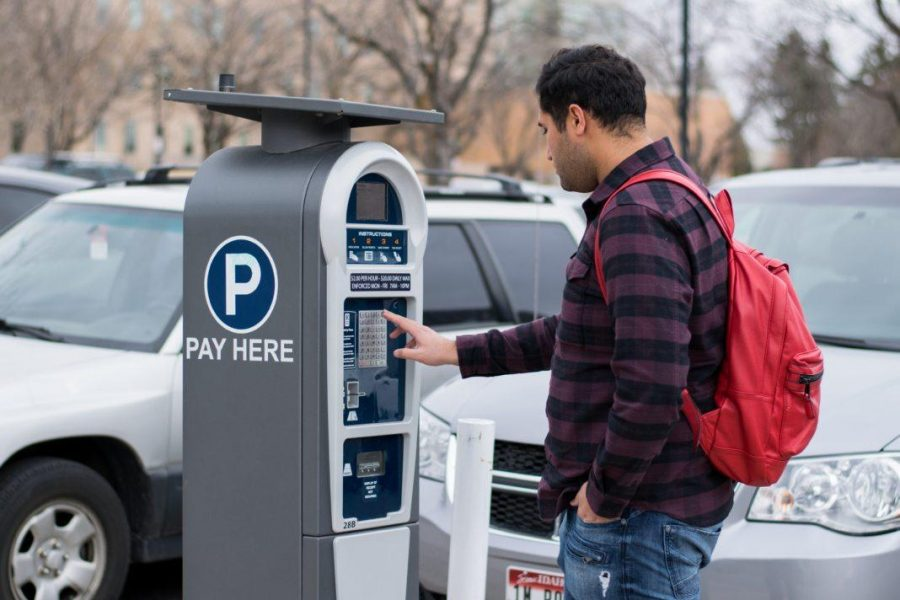 Pay lot kiosk in the Union Parking Lot. (Chronicle archives)
