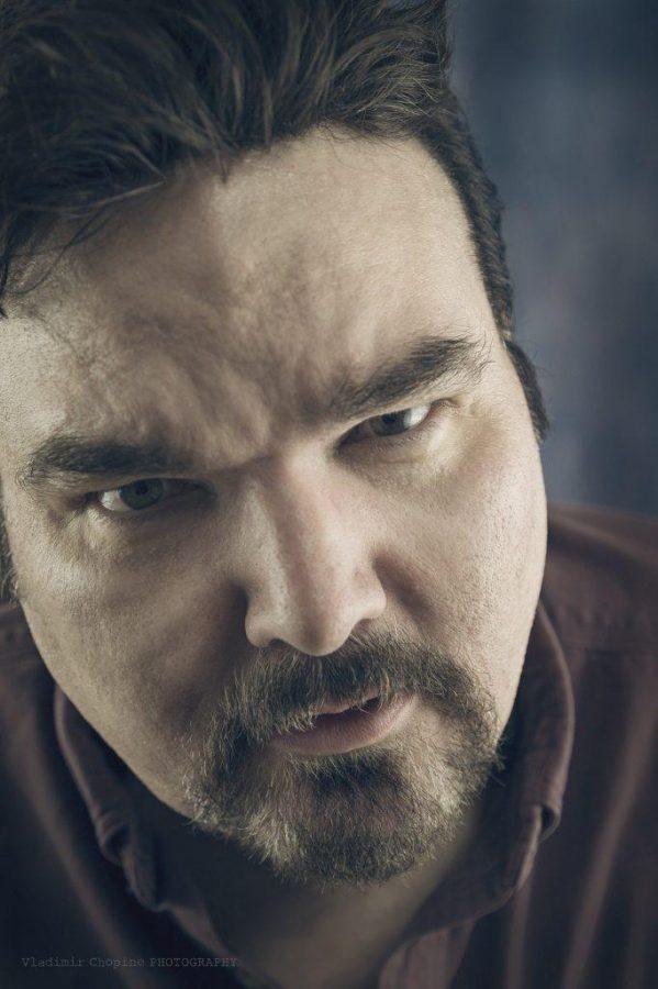 An intense photo of Bob Defendi's face.
